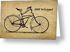 Whippet Bicycle Greeting Card