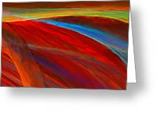 Whirled Colors Greeting Card