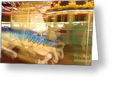 Whirling Carousel Greeting Card