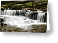Whispering Waterfall Landscape Greeting Card