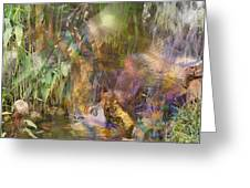 Whispering Waters - Square Version Greeting Card