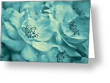 Whispers Of Teal Roses Greeting Card