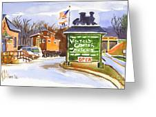 Whistle Junction In Ironton Missouri Greeting Card