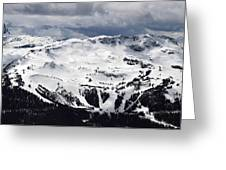 Whistler Mountain View From Blackcomb Greeting Card