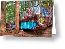 Whistler Train Wreck Box Car Graffiti Greeting Card