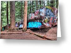 Whistler Train Wreckage Among The Trees Greeting Card