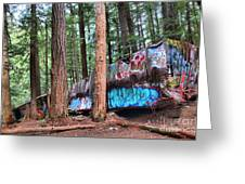 Whistler Train Wreckage In The Trees Greeting Card