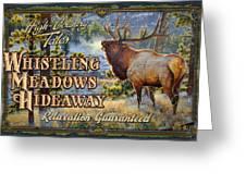Whistling Meadows Elk Greeting Card by JQ Licensing