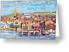 Whitby Greeting Card by Martin Decent