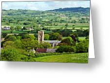 Whitchurch Canonicorum Overview  Greeting Card