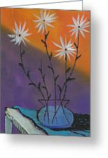 White Asters Greeting Card