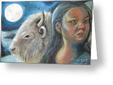 White Buffalo Portrait Greeting Card