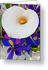 White Calla Lily Bouquet Art Prints Greeting Card
