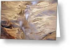 White Canyons Cascade Greeting Card
