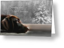 White Christmas Greeting Card by Lori Deiter