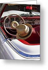 White Classic Mercedes Benz 230 Sl Greeting Card