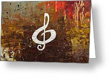 White Clef Greeting Card
