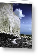 White Cliffs At Birling Gap Greeting Card