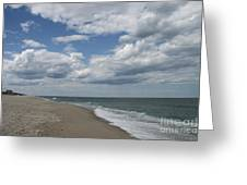 White Clouds Over The Ocean Greeting Card