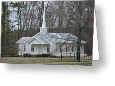 White Country Church Series Photo B Greeting Card