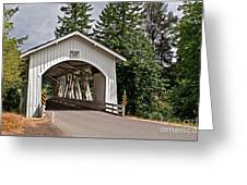 White Covered Bridge Hannah Bridge Art Prints Greeting Card
