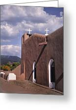 White Crosses At Taos Greeting Card