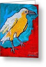 White Crow Greeting Card
