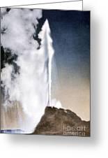White Dome Geyser Yellowstone Np Greeting Card
