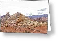 White Domes Panorama Greeting Card