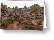 White Domes Trail Greeting Card