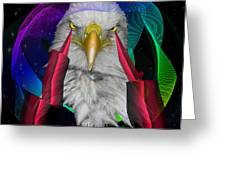white Eagle face Greeting Card
