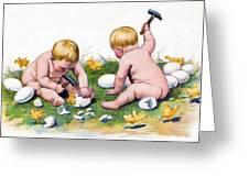 White Eggs Greeting Card
