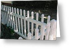 White Fence Provincetown Greeting Card