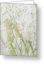 White Flowers Pi Greeting Card
