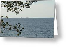 White Freighter Greeting Card