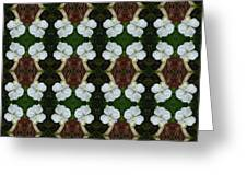 White Geranium Pattern Greeting Card
