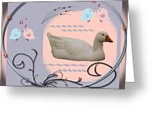 White Goose Series 1 Greeting Card