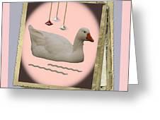White Goose Series 2 Greeting Card