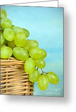 White Grapes Greeting Card