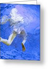 White Hair Blue Water Greeting Card by Dietrich ralph  Katz