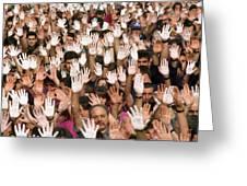 White Hands  - Manos Blancas Greeting Card