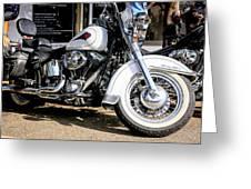White Harley Greeting Card