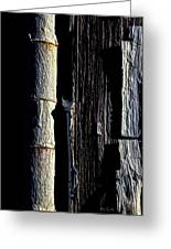 White Hinge On The Old Red Barn Greeting Card by Bob Orsillo