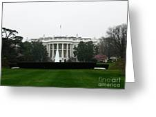 White House In Dc Greeting Card
