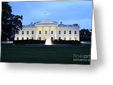 White House In Eveninglight Washington Dc Greeting Card