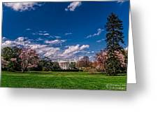 White House Lawn In Spring Greeting Card