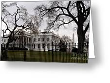 White House On A Cloudy Winter Day Greeting Card