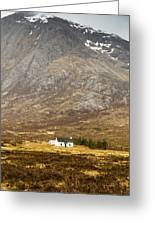 White Hut Under Stob Dearg Greeting Card