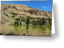 White Knob Mountain Lake Greeting Card