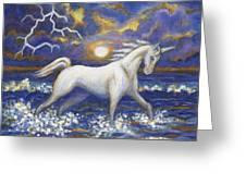 White Lightening Greeting Card